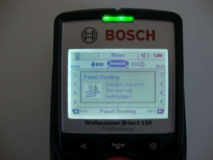 "Bosch D-Tect 150 SV - Mod detectare  ""Panel heating"""